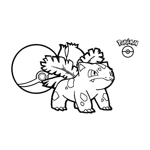 ivysaur pokemon para colorear