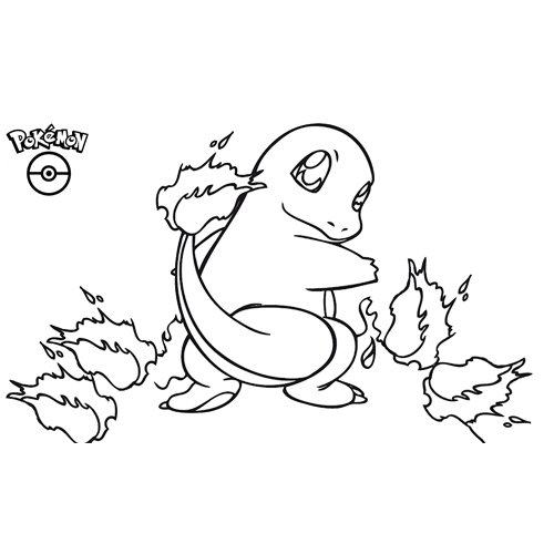 lindo charmander pokemon para colorear