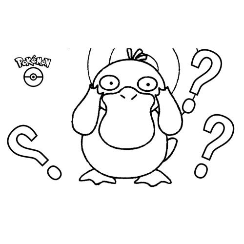 pokemon psyduck para colorer