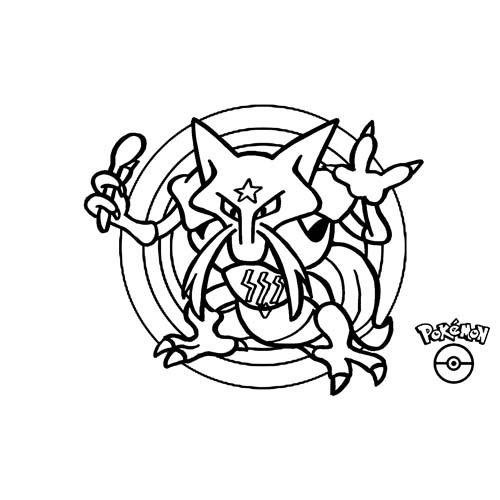 pokemon kadabra para colorear