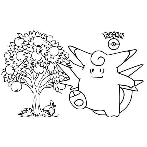 pokemon wigglytuff para colorear