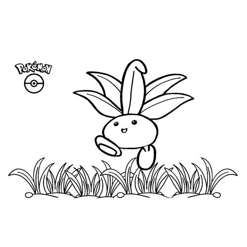 pokemon oddish para colorear