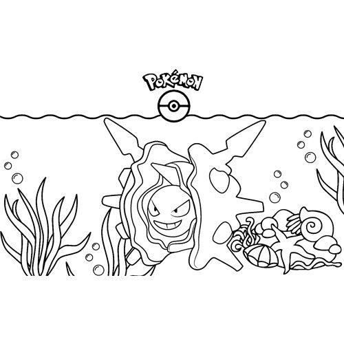 pokemon cloyster para colorear