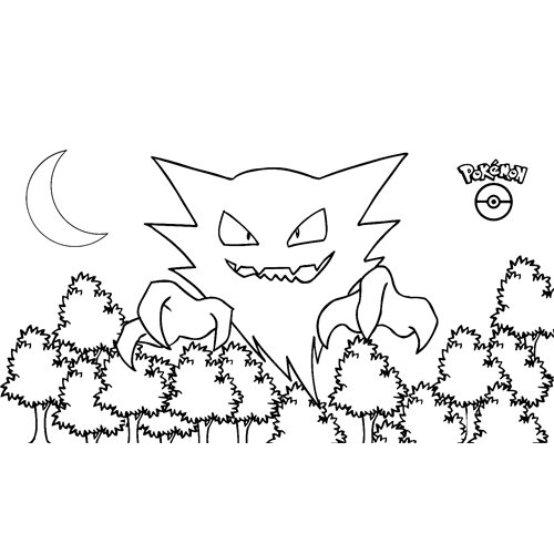 pokemon haunter para colorear