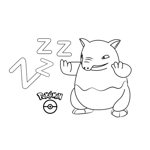 pokemon drowzee para colorear