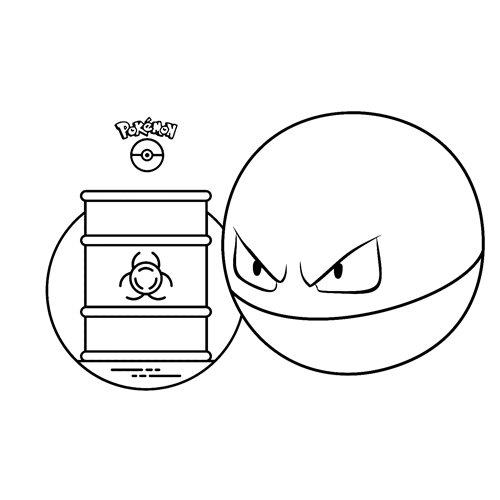 pokemon Voltorb para colorear y descargar
