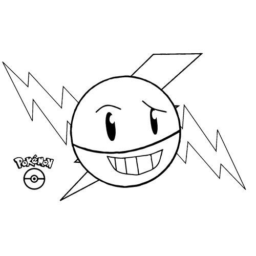 pokemon electrode para colorear
