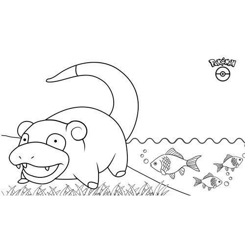 pokemon slowpoke para colorear