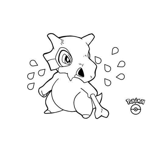 pokemon cubone para colorear