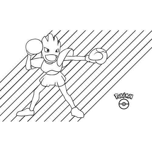 pokemon hitmonchan para colorear
