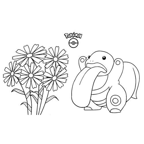 pokemon lickitung para colorear
