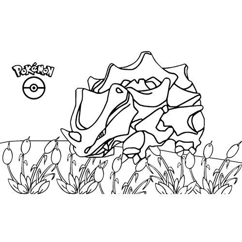 pokemon rhyhorn para colorear