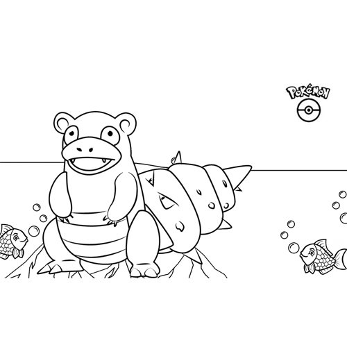 pokemon slowbro para colorear