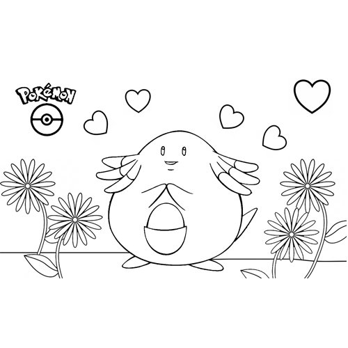 pokemon chansey para colorear