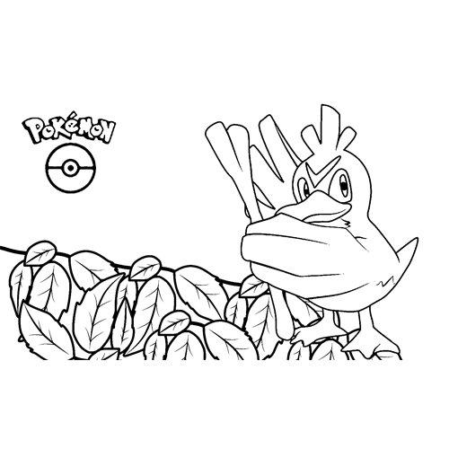 pokemon farfetchd para colore