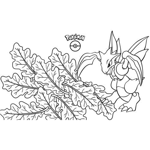pokemon scyther para colorear