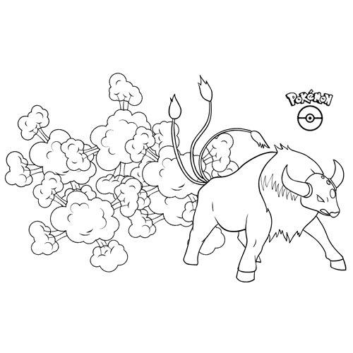 pokemon taurus para colore