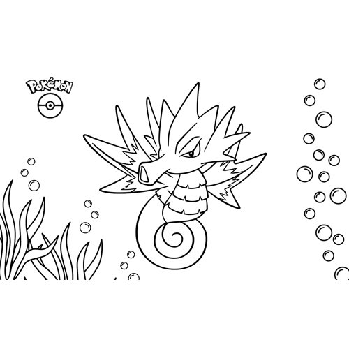 pokemon seadra para colorear