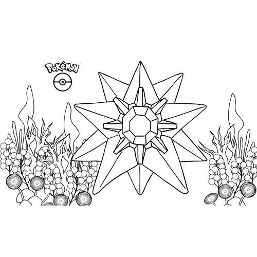pokemon starmie para colorear